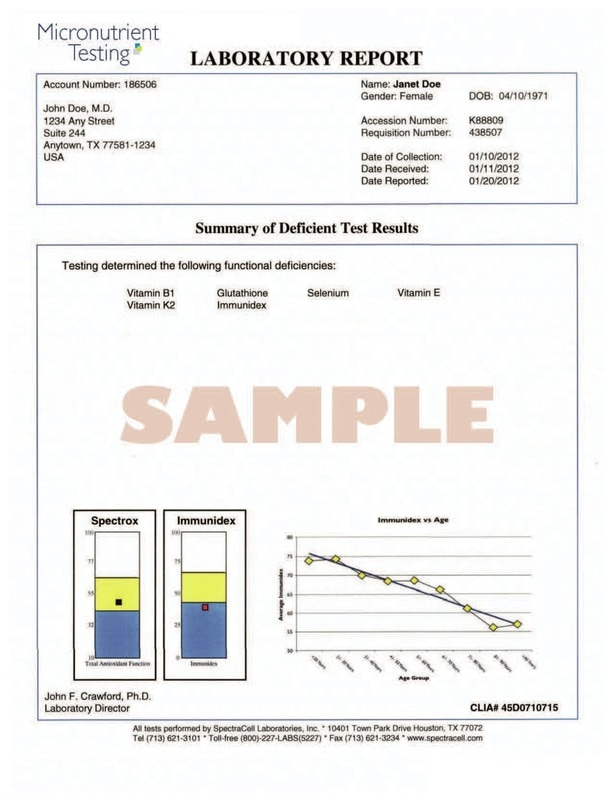 Micronutrient Test Sample Report | Dandelion Nutrition